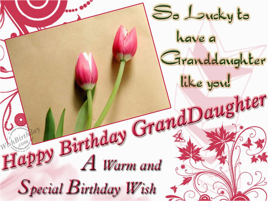 warm special wishes to granddaughter