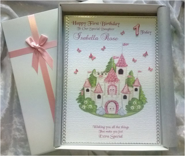 beautiful princess birthday card handmade perso folksy