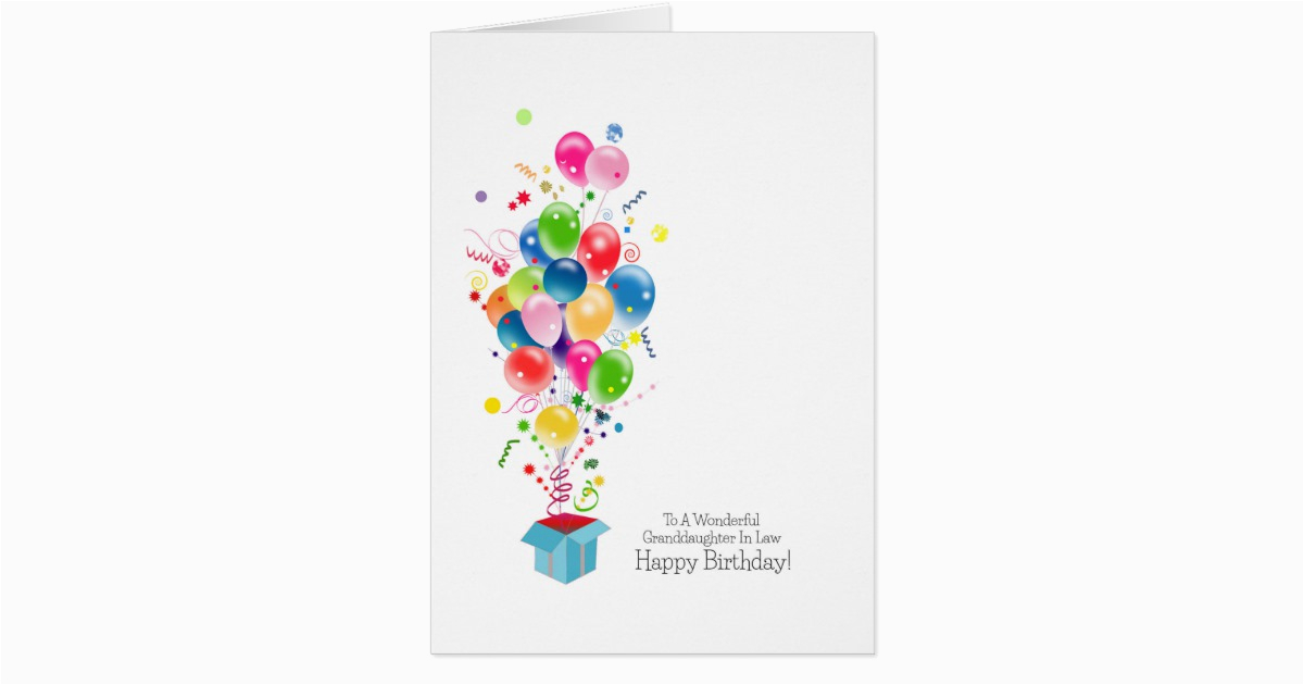 granddaughter in law birthday cards balloons 137141565367949616
