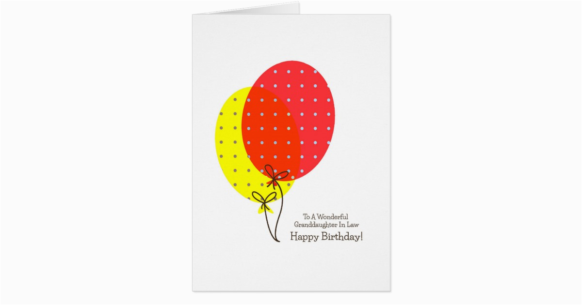granddaughter in law birthday cards balloons 137006163137534832