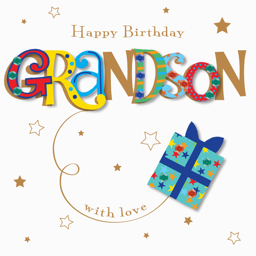kctpmwe30052 grandson happy birthday greeting card by talking pictures cards
