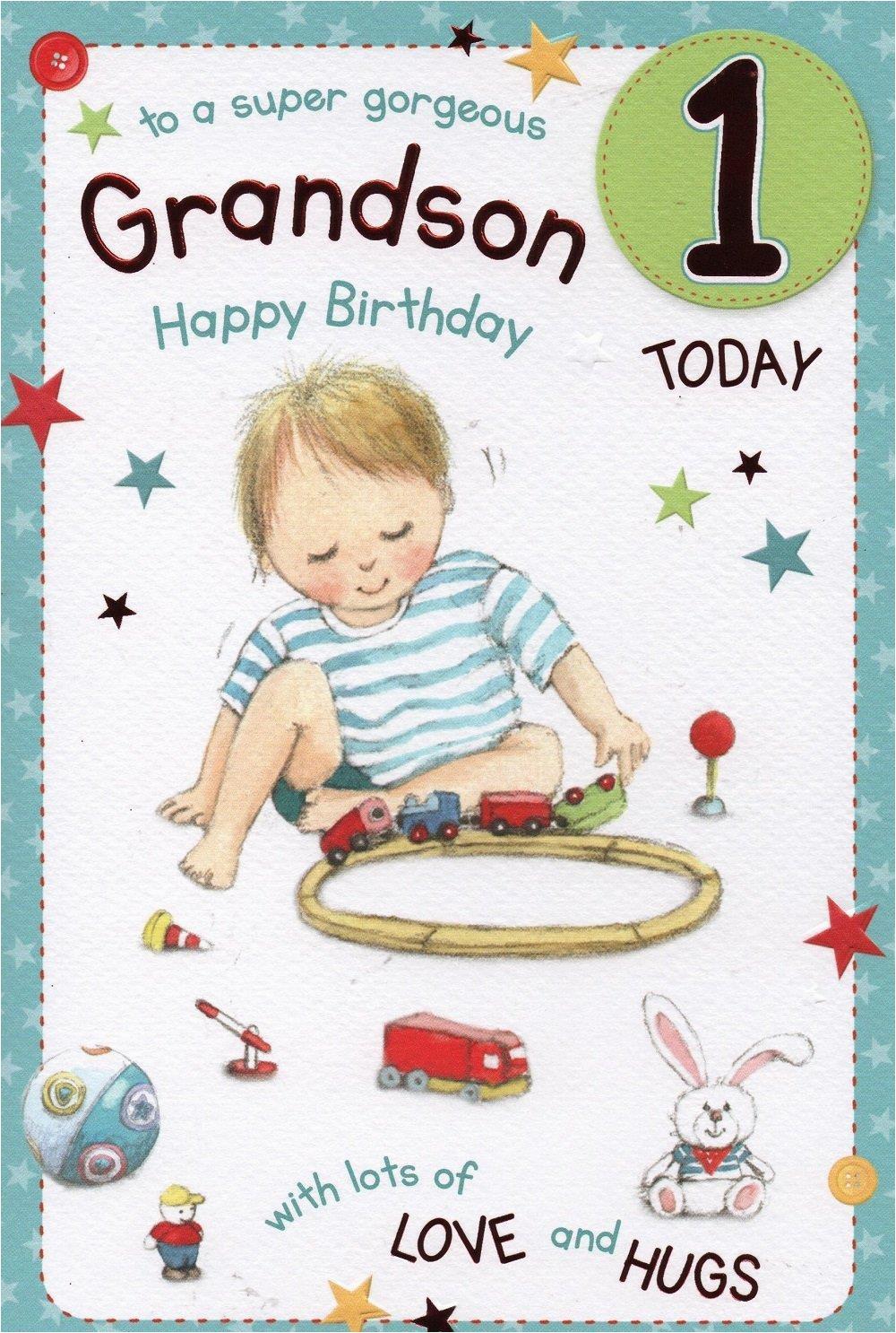 grandson 1st birthday card dot2dot cards gifts