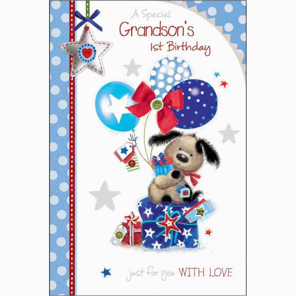 Grandson First Birthday Card Special Grandson 39 S 1st Birthday Card Karenza Paperie