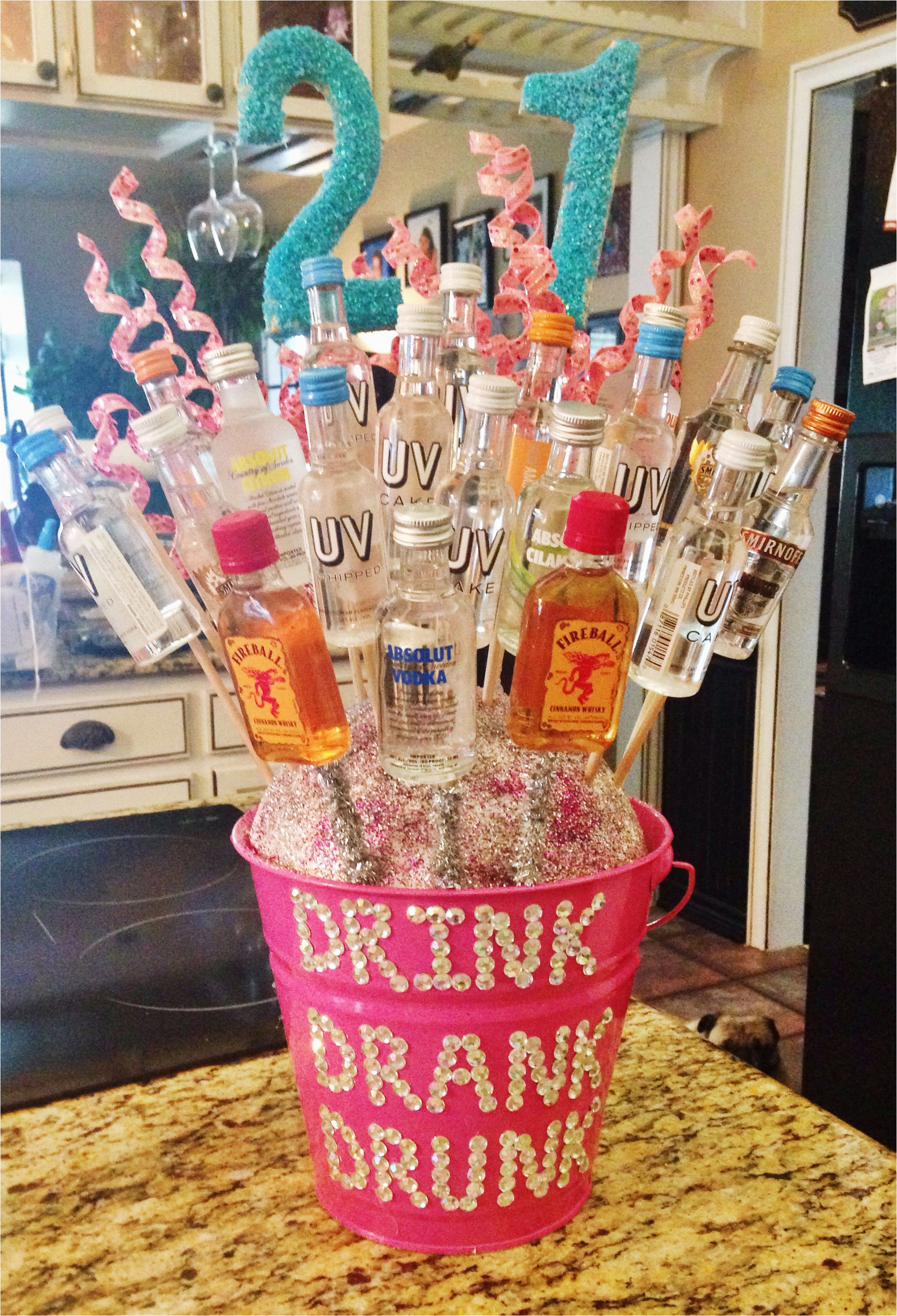 Great 21st Birthday Gifts For Her Alcohol Bouquet I Made My Best Friend Diy