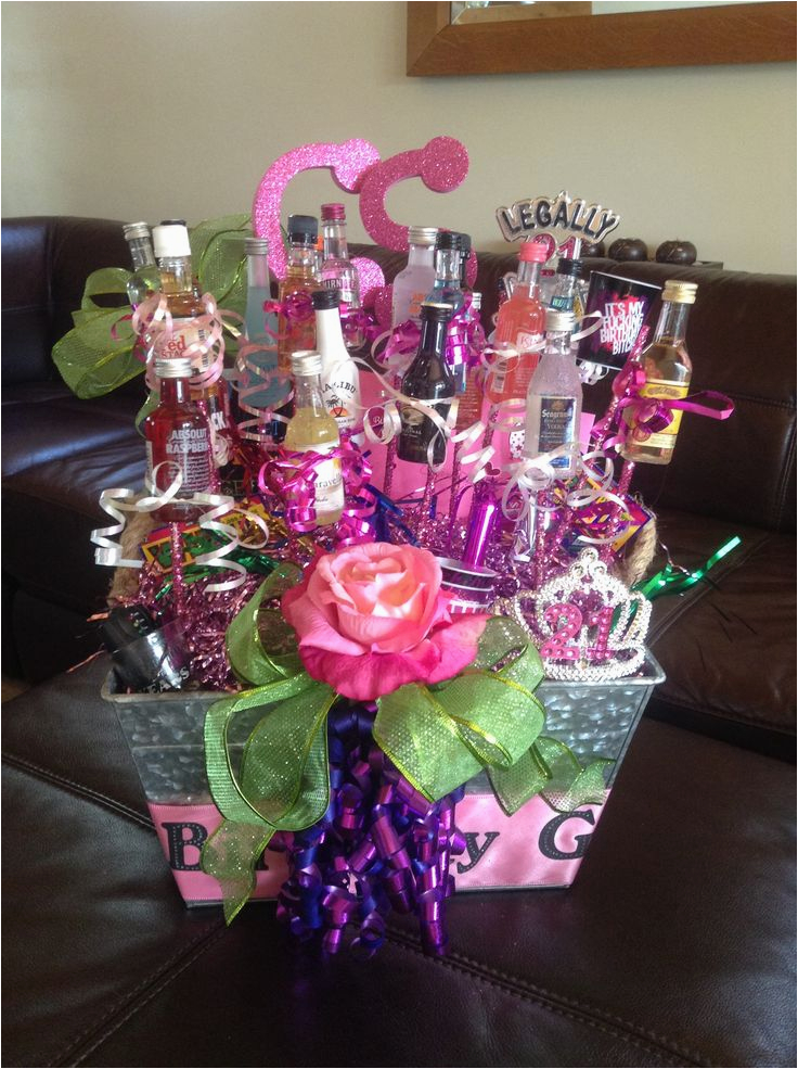 Great 21st Birthday Gifts For Her Happy Gift Basket