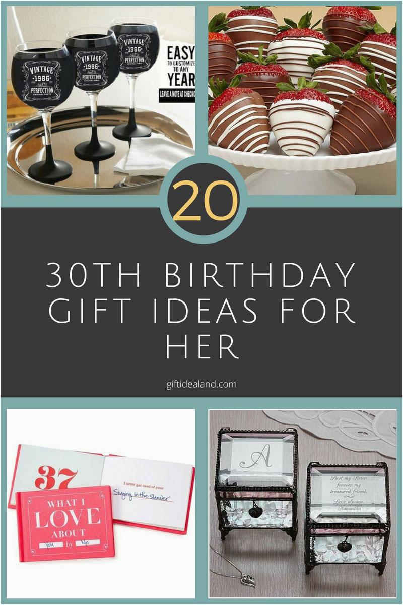 20 good 30th birthday gift ideas for women