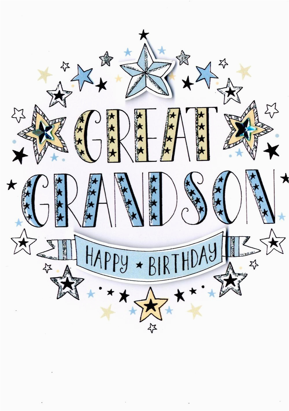 Great Grandson 2nd Birthday Card Greeting Cards Love Kates
