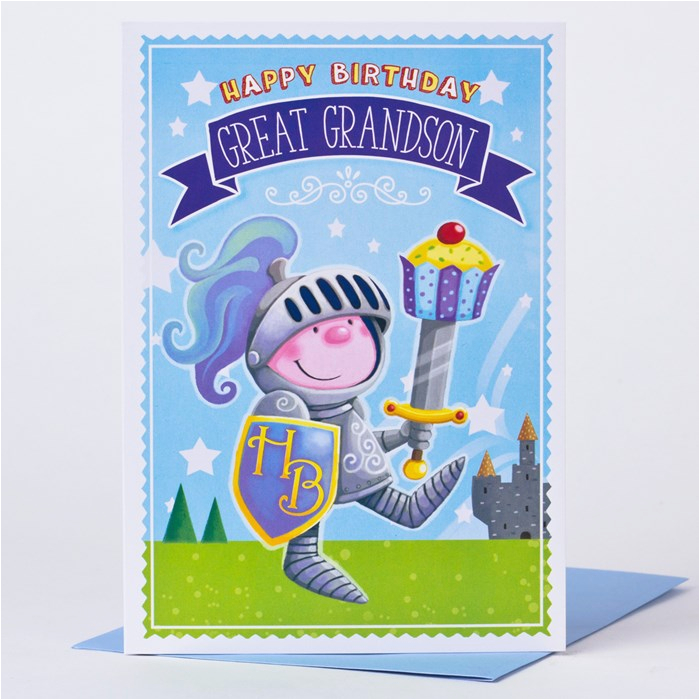 birthday card great grandson knight
