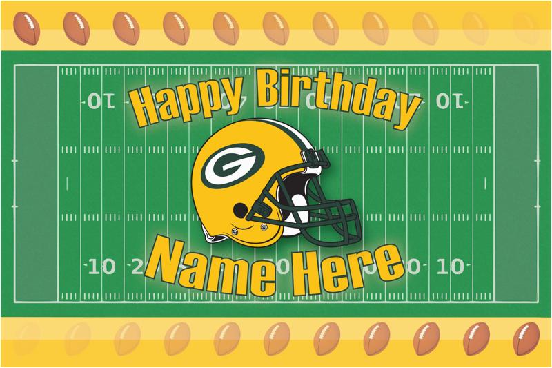 6484355 custom sports birthday card green bay