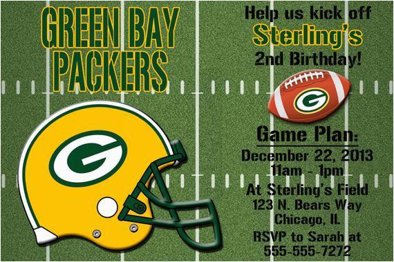 green bay packers football invitation or