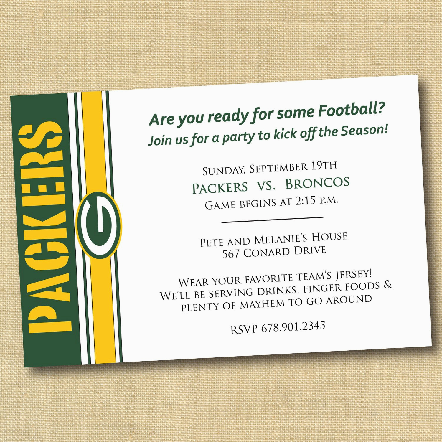 green bay packers football party