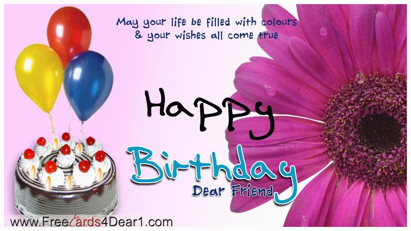 birthday greeting card for friend
