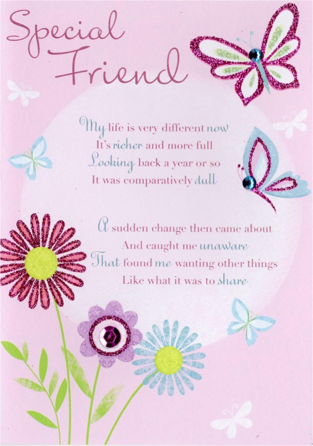 Greeting Card for Birthday Of Friend Thank You Special Friend Greeting Card Cards