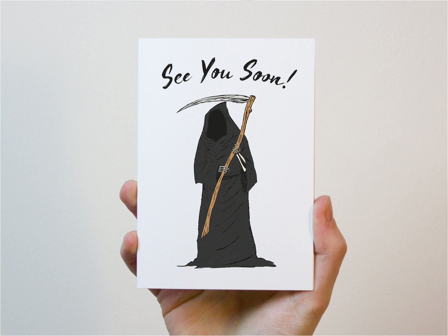 grim reaper birthday card funny birthday card