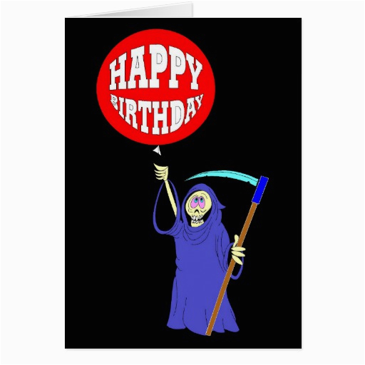 grim reaper birthday cards zazzle