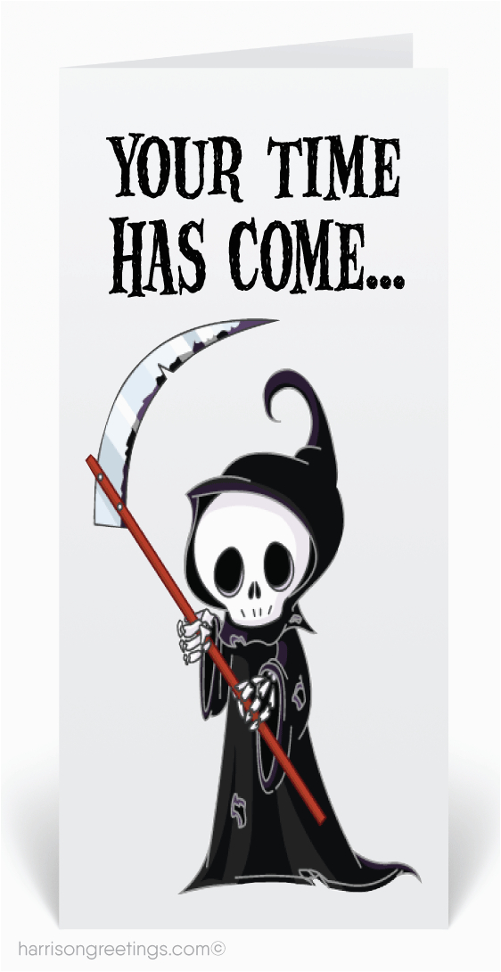grim reaper halloween greeting card 12656 harrison