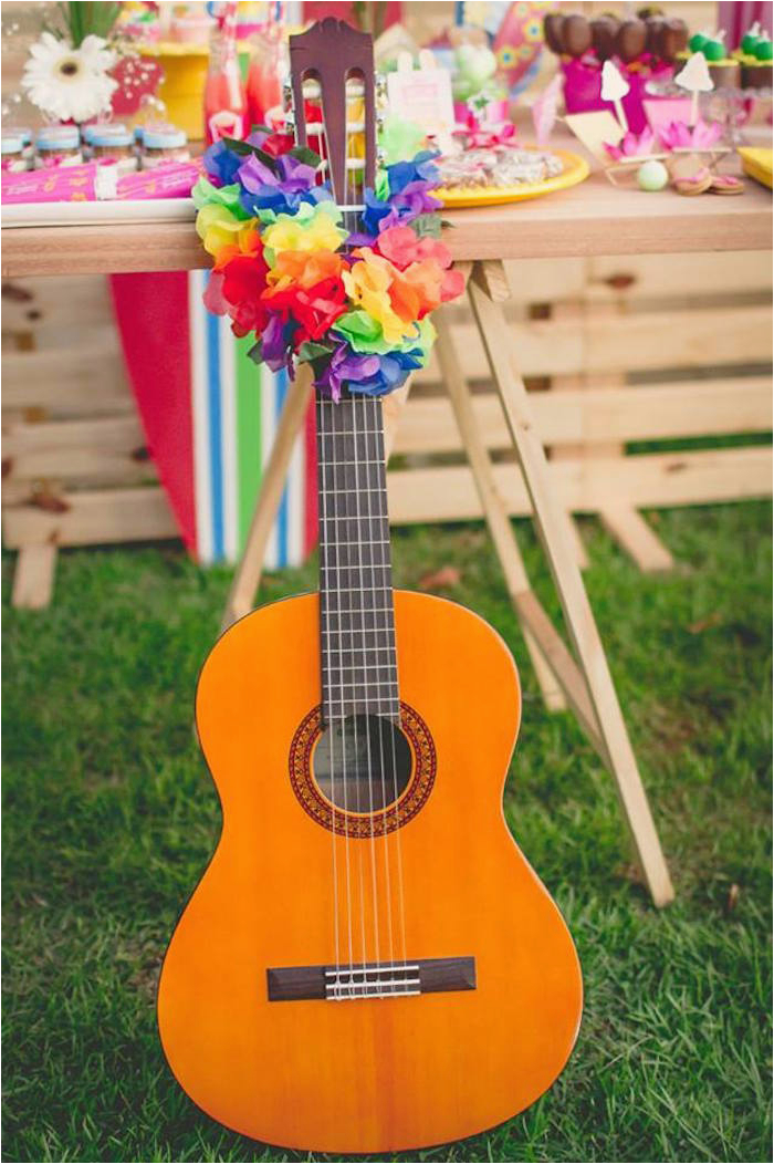 tropical surf themed birthday party