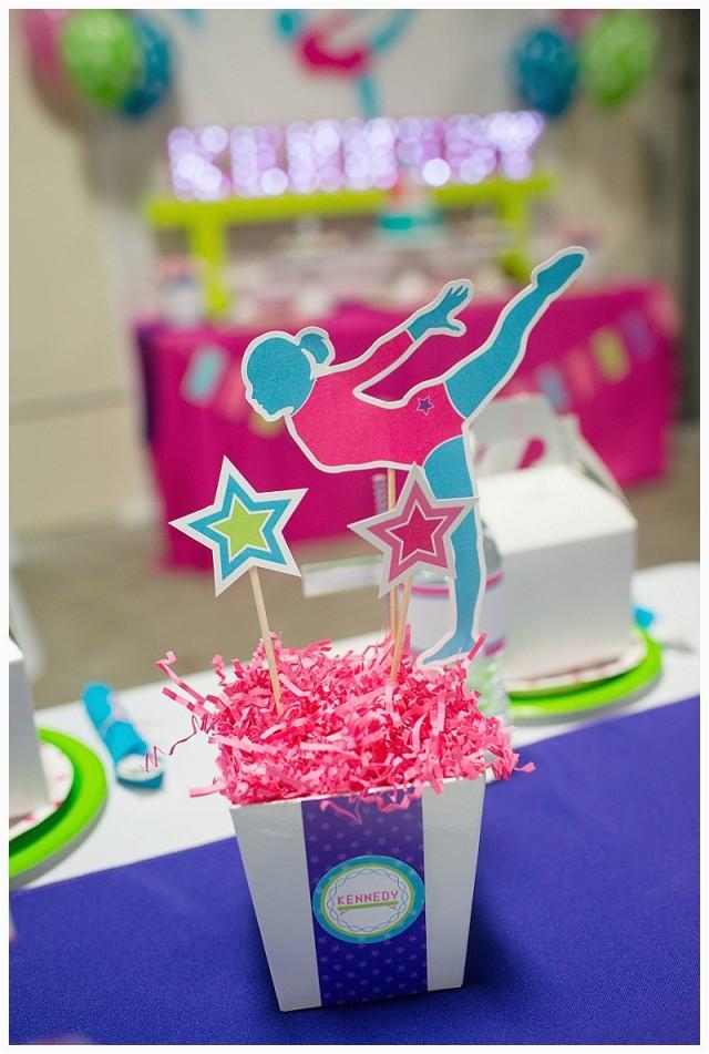 Gymnastics Birthday Party Decorations A Bright and Colorful Gymnastics Birthday Party anders