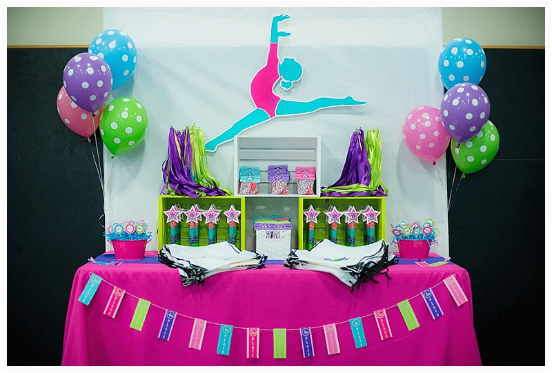 sweetly feature colorful gymnastics party