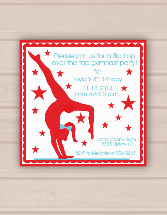 Gymnastics Birthday Party Invitations Printable 7 Best Images Of Gymnastic