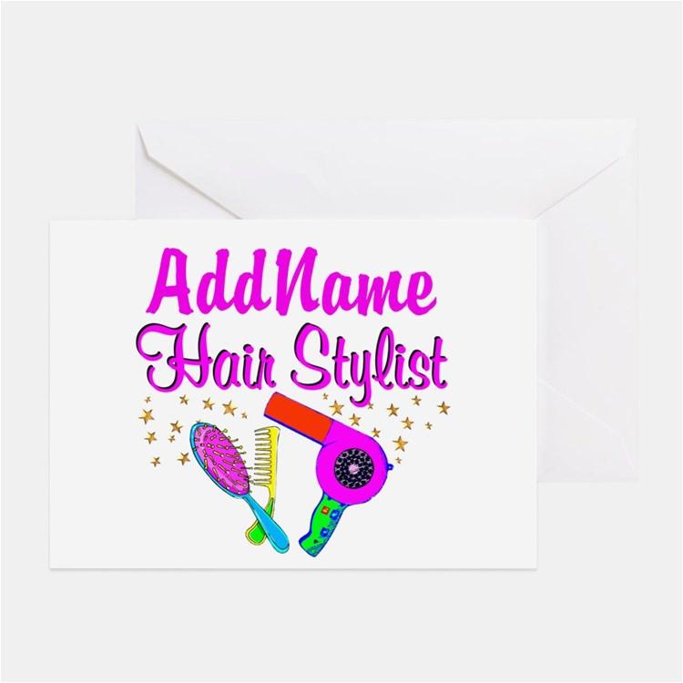 hair stylist greeting cards