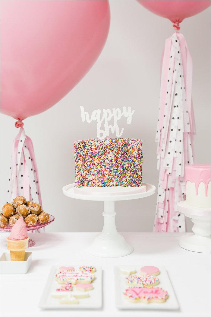 Half Birthday Decorations Kara 39 S Party Ideas Little Sprinkles Half Birthday Party