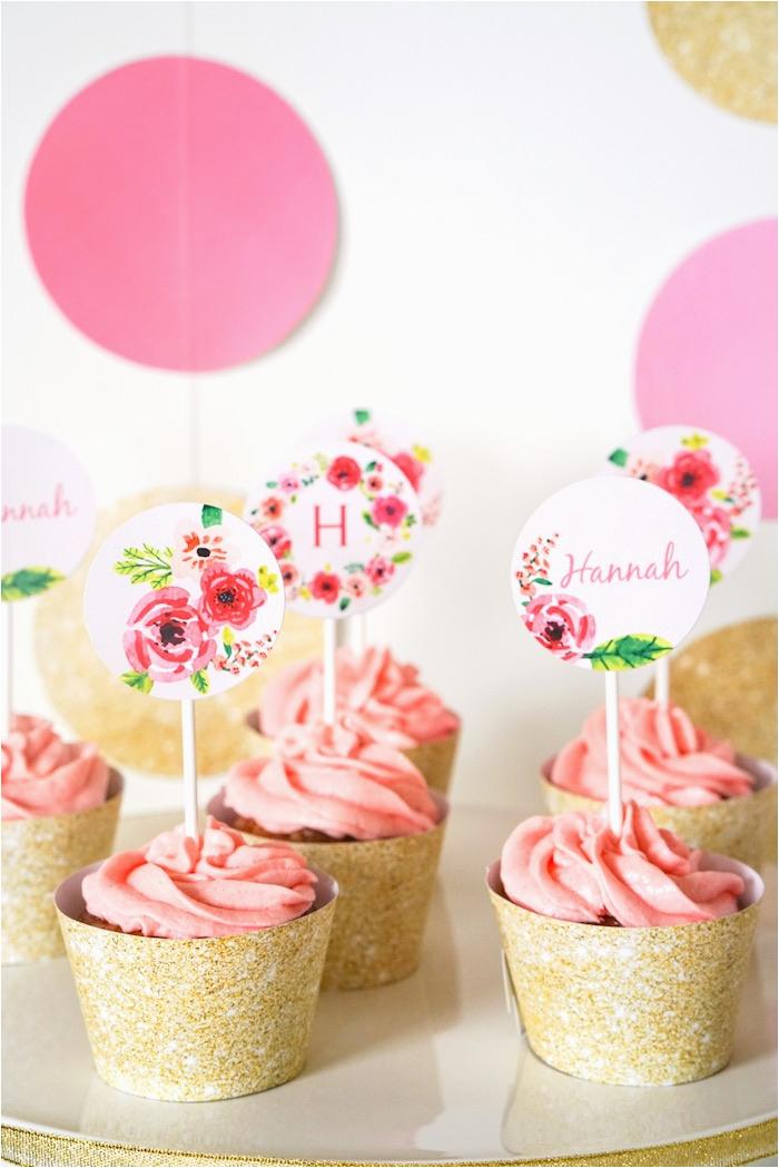 Half Birthday Decorations Kara 39 S Party Ideas Pink Gold Half Birthday Party Kara
