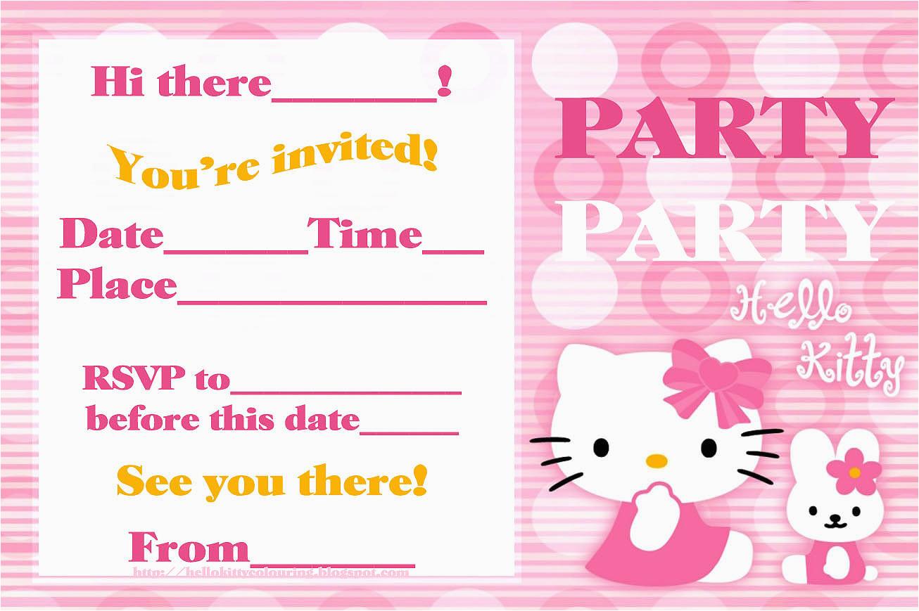 hallmark birthday invitations template