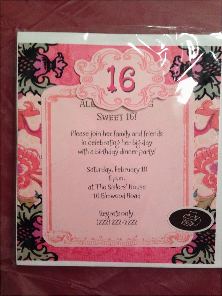 291089075636 Sweet 16 Birthday Hallmark Printable Invitation Ebay From Invitations Online
