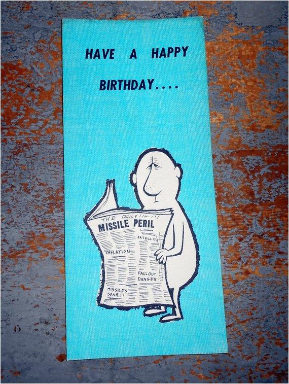 Hallmark E Birthday Cards Funny Vintage Card Greeting By