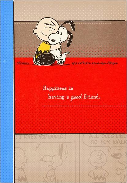 peanuts good friend great birthday card 299hbd1315