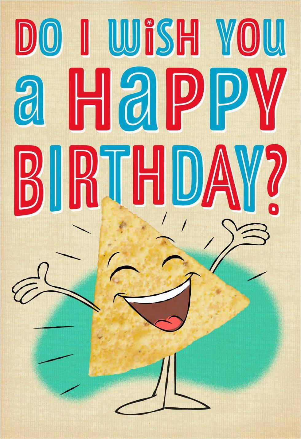 Hallmark Musical Birthday Cards Nacho Chips Card Greeting