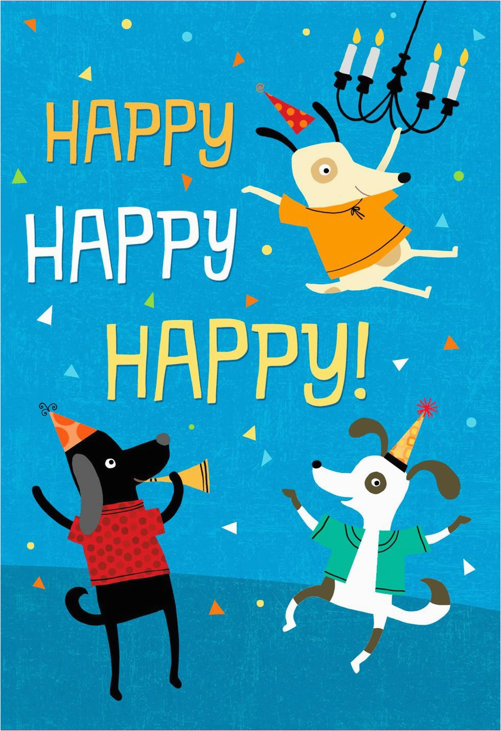 Hallmark Musical Birthday Cards who Let the Dogs Out Musical Birthday Card Greeting