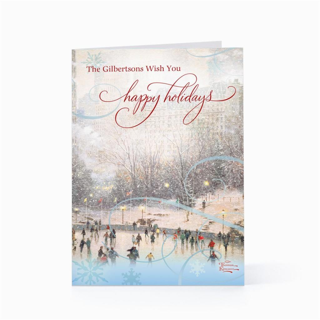 Hallmark Personalised Birthday Cards Hallmark Thomas Kinkade Holiday Personalized Cards the