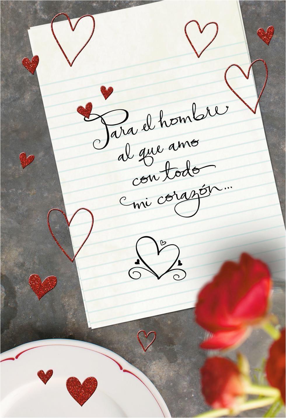 Hallmark Romantic Birthday Cards For Him To The Man I Love Spanish Language Valentine 39