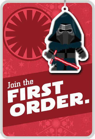 kylo ren star wars the force awakens christmas card