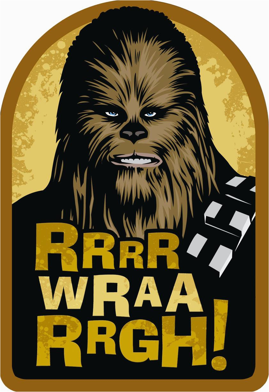 star wars chewbacca wookiee wishes birthday card