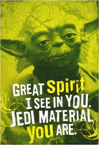 star wars greeting cards yoda hallmark greeting card