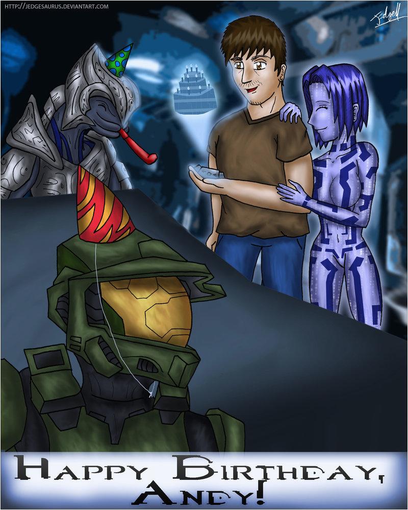 halo birthday card by jedgesaurus on deviantart