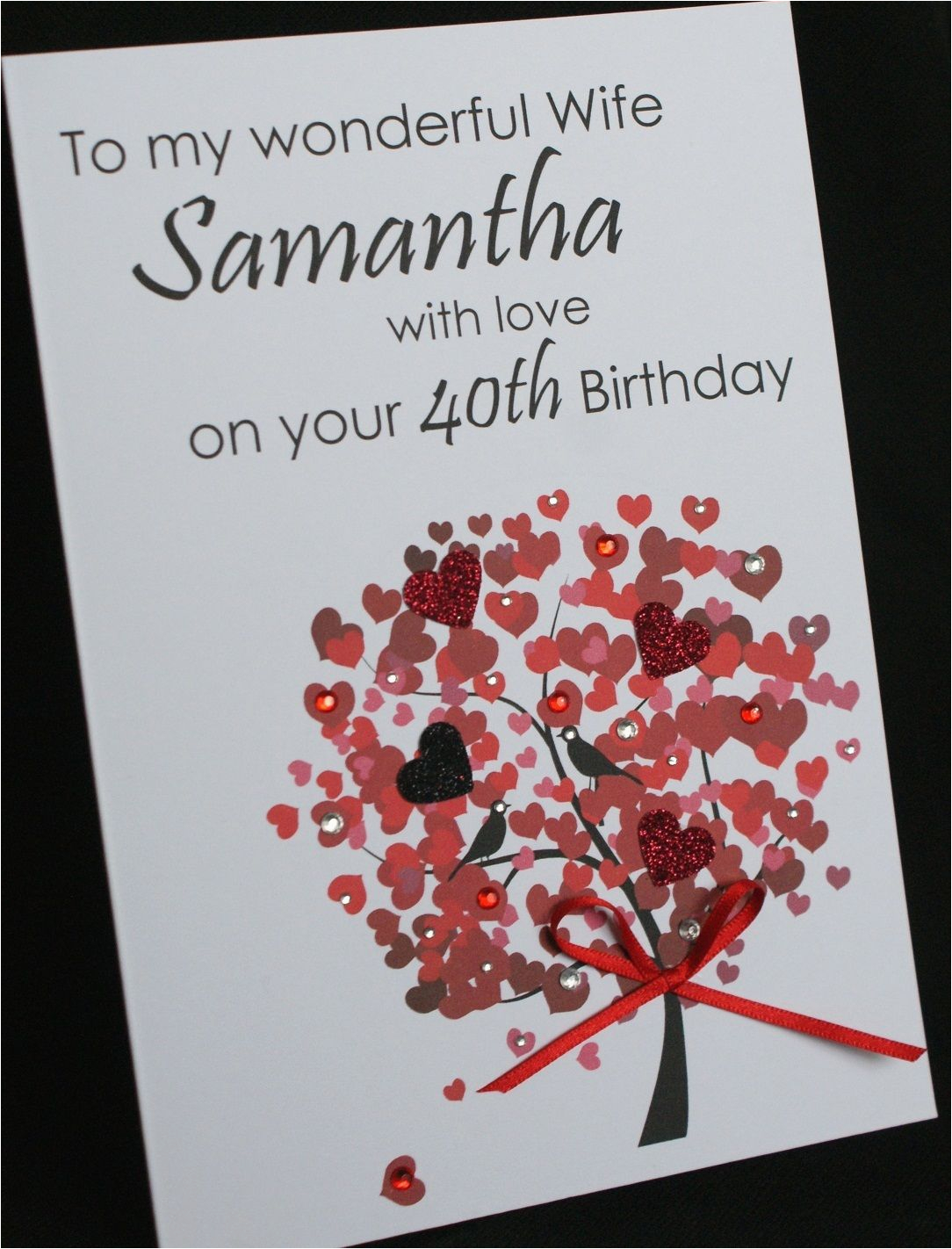 Handmade Birthday Cards For Boyfriend With Love A5 Personalised Tree Card Wife
