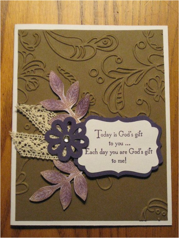 Handmade Birthday Cards For Mom From Daughter Religious Card God 39 S Gift Friendship