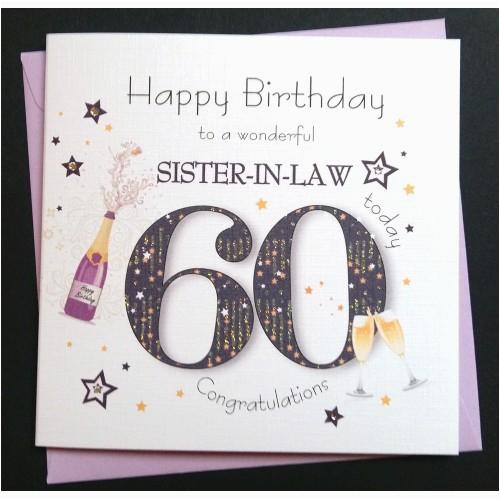luxury milestone birthday card for her