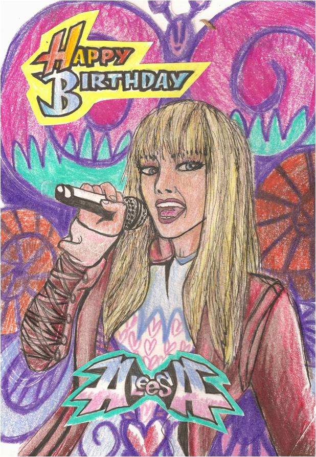 hannah montana birthday card 146000911