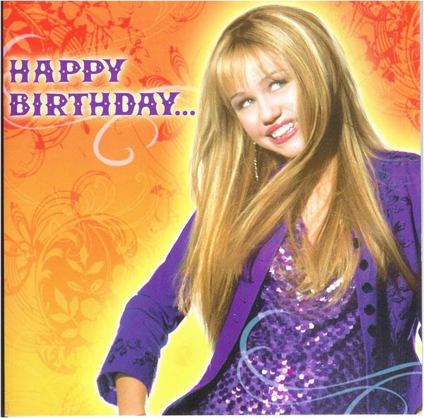 oi happy birthday hannah montana shtml