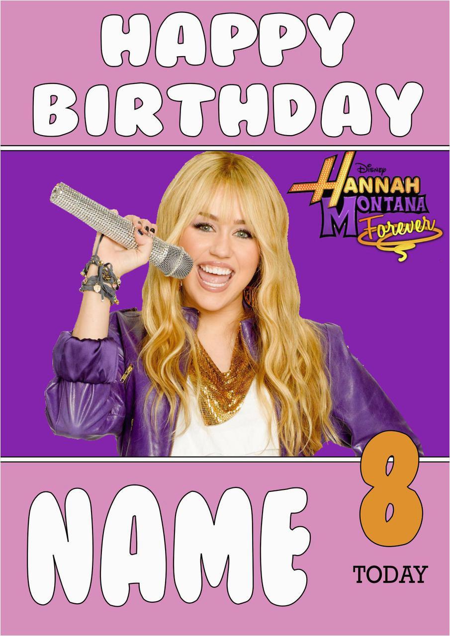 personalised hannah montana birthday card 2
