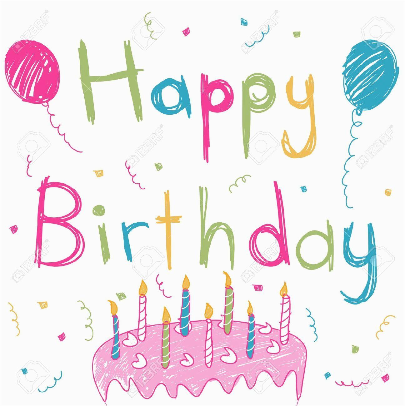 happy birthday card stock vector cartoon