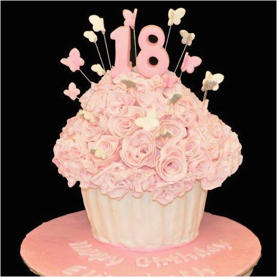 happy 18th birthday elizabeth cupcakes flowers pretty