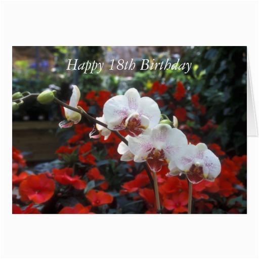 happy 18th birthday flower card zazzle