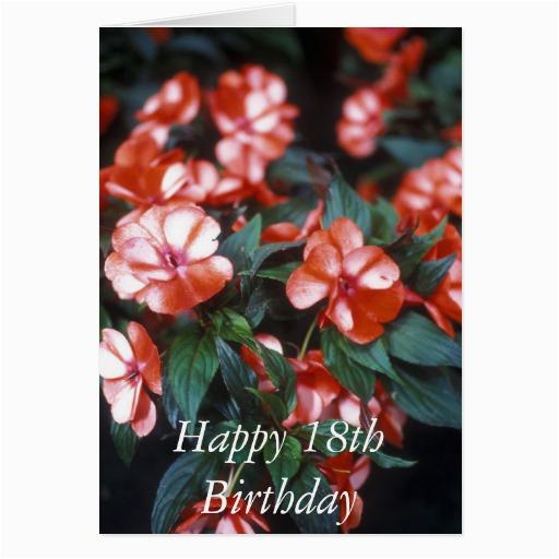 Happy 18th Birthday Flowers Happy 18th Birthday Flower Card Zazzle