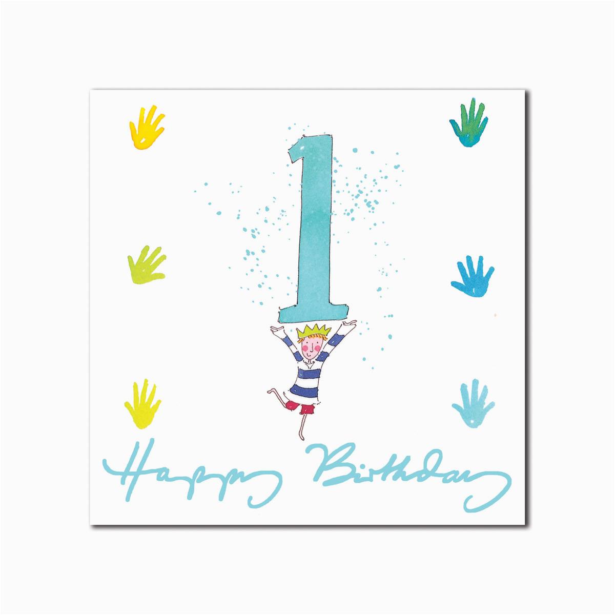 Happy 1st Birthday Boy Card Happy 1st Birthday Boy Greeting Card From sophie Allport